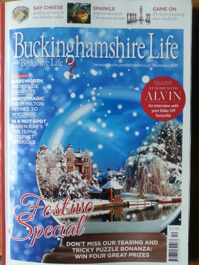 Cover of the December issue of Buckinghamshire & Berkshire Life.