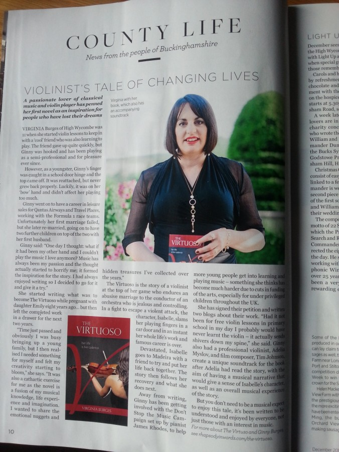 My first print feature of The Virtuoso is on page 10!
