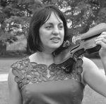 me with violin at mums wedding