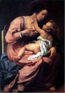 artemisia-gentileschi-1609-madonna-and-baby-jesus
