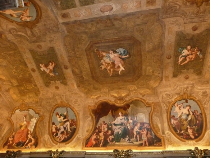 Ceiling of the Eroica Saal at the Palais Lobkowitz