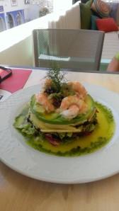 Langostine saland at La Pintoresca