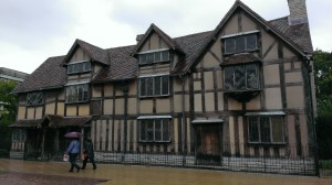 front of Shakespeares house