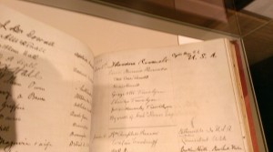 Rooselvelt signature visitors book 1910