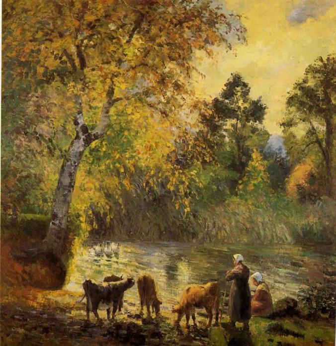 autumn-montfoucault-pond-1875 Camille Pissarro