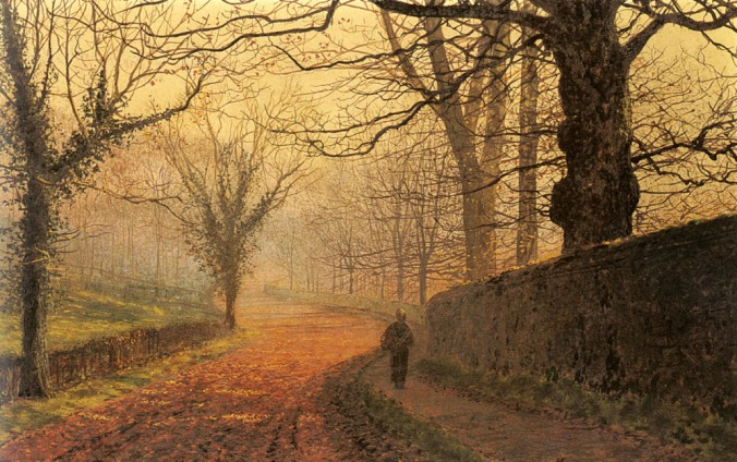 John Atkinson Grimshaw - november-afternoon-stapleton-park