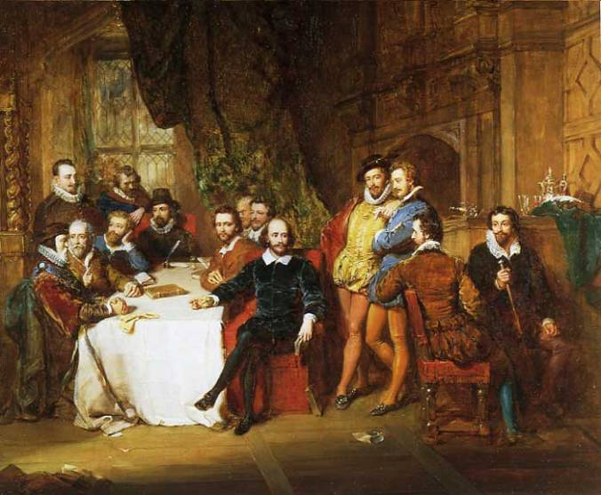 John Faed - Shakespeare and his contemporaries 1851