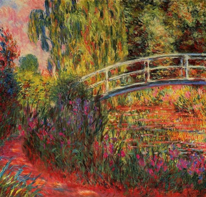 Monet - Japanese Bridge in Autumn