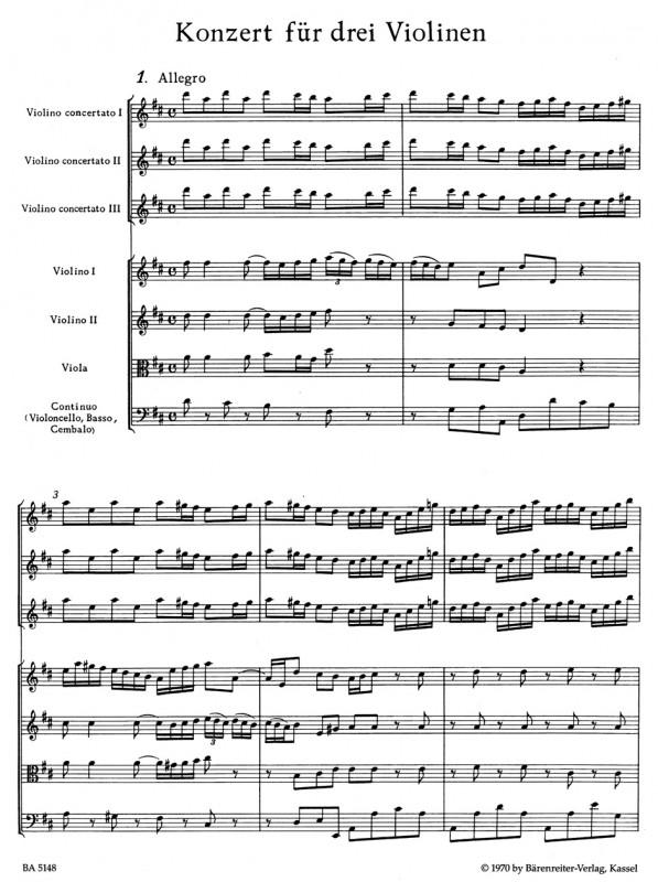 Bach - Triple Violin Concerto BWV 1064R