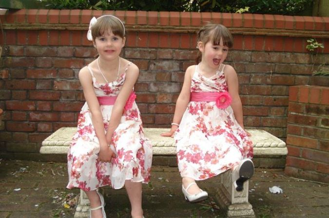 Emily & Ruby at mums wedding