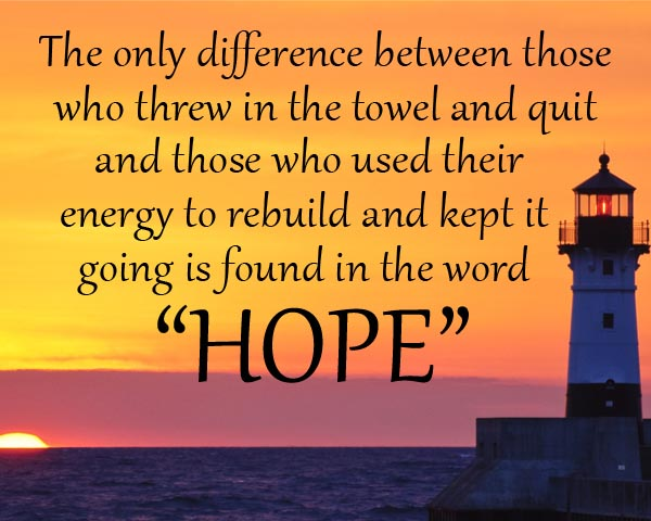 the anatomy of hope in words