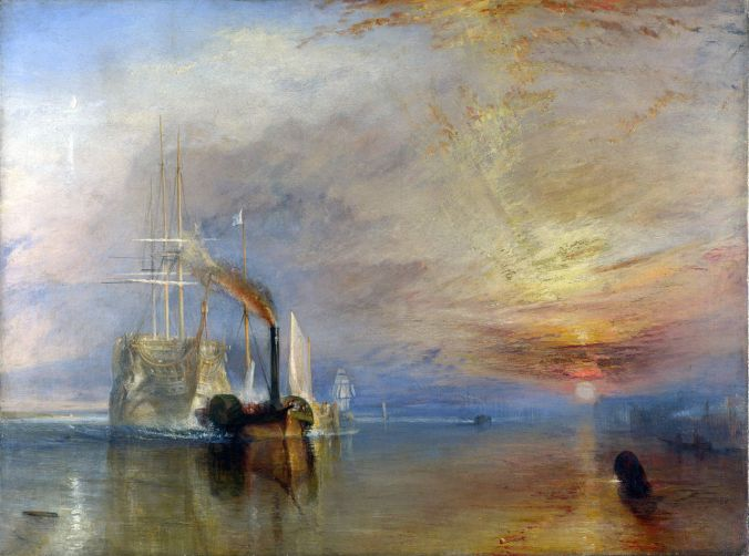 JMW Turner - The_Fighting_Téméraire_tugged_to_her_last_Berth_to_be_broken