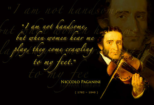 The Great Virtuoso Violinists Composers Of The 18th Century Paganini Rhap So Dy In Words