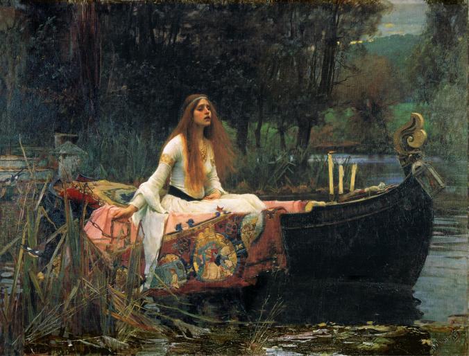The Lady of Shalott by John William Waterhouse  (1894)