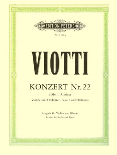 Viotti - Violin Concerto no. 22 sheet music cover
