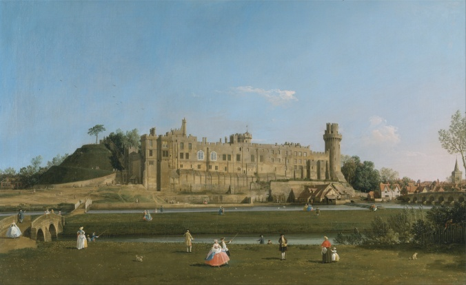 South front of Warwick Castle by Canaletto c. 1749