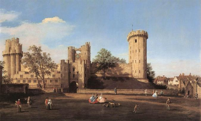 East front of Warwick castle by Canaletto c. 1752