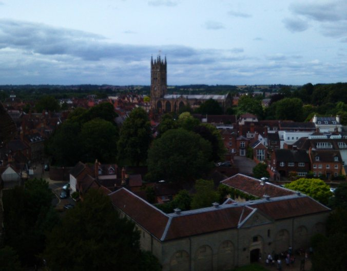 View of St. Mary's Church Warwick from Guy's Tower.