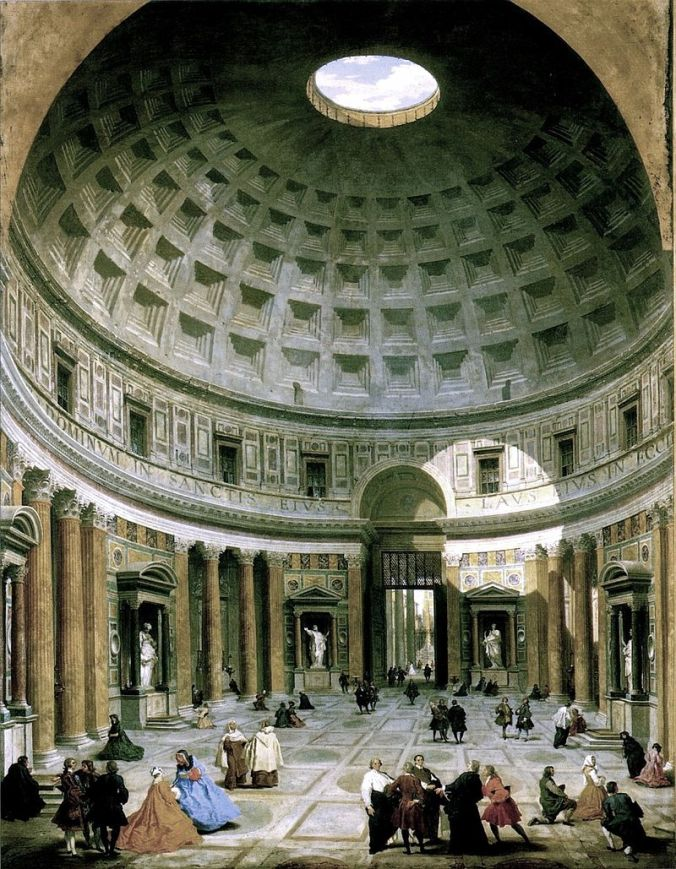 Interior of the Pantheon by Giovanni Paolo Panini.