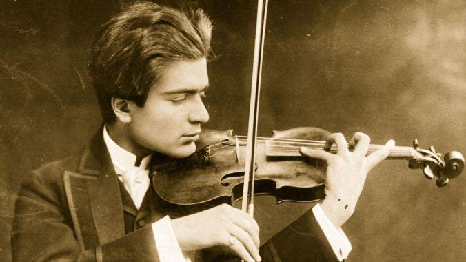 Violinist Bronislaw Huberman, aged 18.