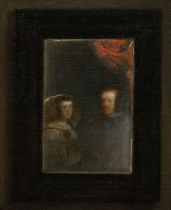 Las Meninas - Mirror detail of King Philip IV of Spain and Queen Mariana