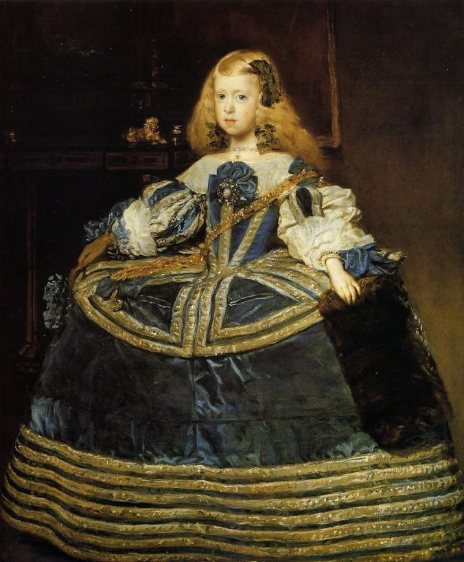 Velázquez - Infanta_Margarita aged 8 in a blue dress 1659