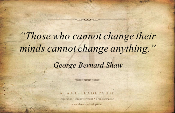George Bernard Shaw - quote-on-changing-our-thinking