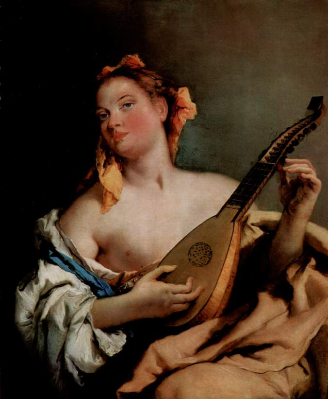 Giovanni Battista Tiepolo - Girl with a mandolin