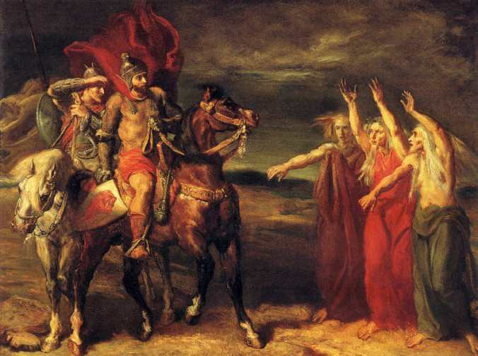 Theodore Chasseriau - Macbeth and Banquo meet the witches.