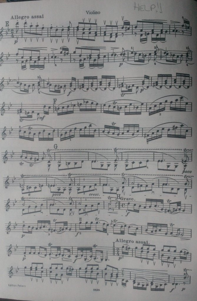 The Allegro assai, where Tartini uses a continuous background of double-stopping trills. Looks like a lifetime of practice for me!