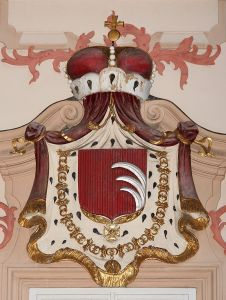 The Kinsky family's coat of arms in Prague