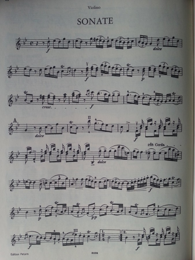 My score of the G minor violin sonata 'Didone Abbandonata'