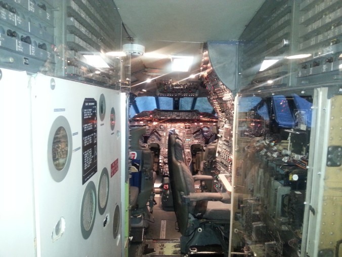 The flight deck of Concorde 'Delta Golf'