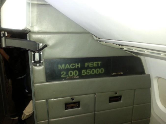 Concorde Mach 2 sign