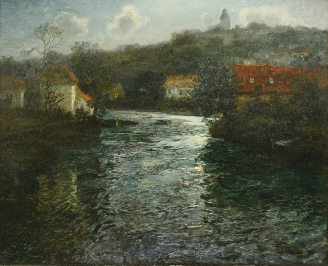 Frits Thaulow - Moonlit canal