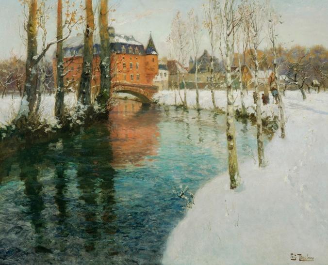 Frits Thaulow - Snow landscape