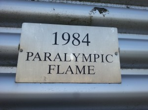 1984 Paralympic Flame sign