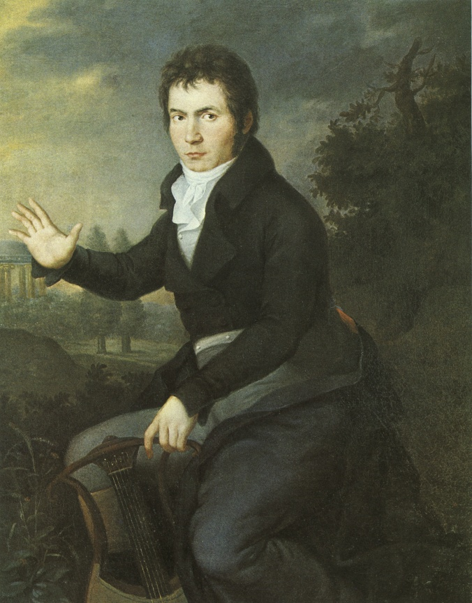 Portrait of Beethoven by Joseph Williboard Mahler c. 1804-5 (oil on canvas)