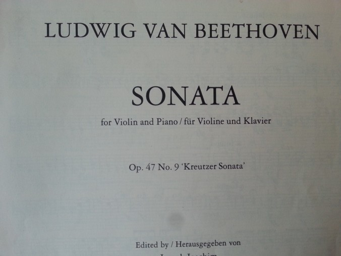 Beethoven - Kreutzer front page
