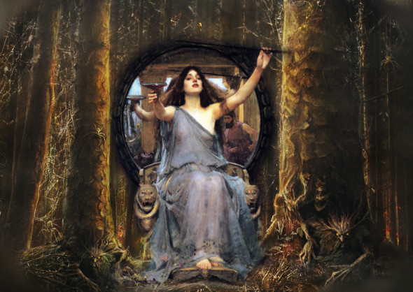 Circe Offering the Cup to Odysseus - JW Waterhouse c. 1891