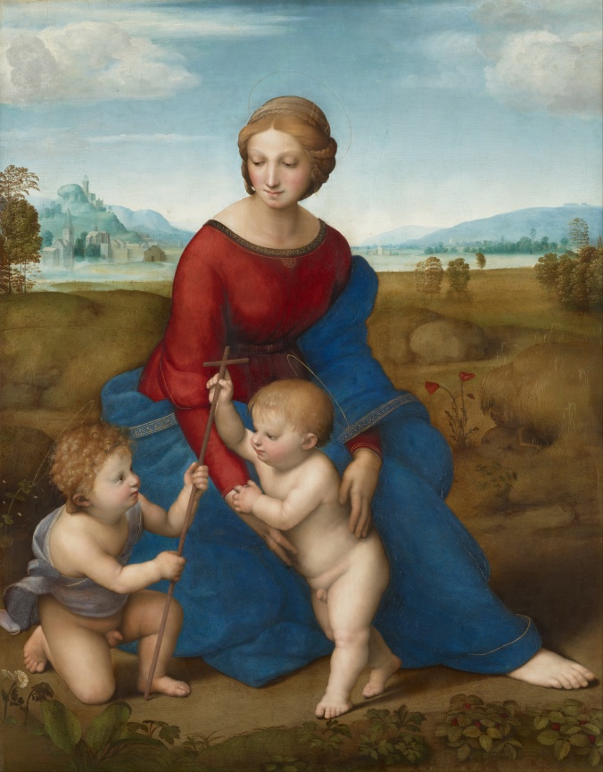 Madonna in the meadow - Raphael c. 1506