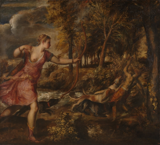 The Death of Acteon (Diana) - Titian c. 1559 - 1575