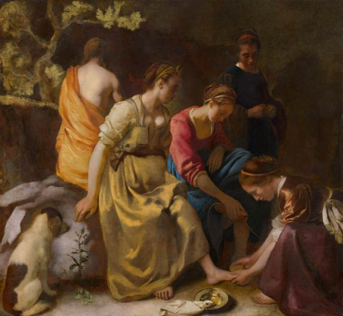 Diana and her Nymphs - Johannes Vermeer c. 1653 - 1656