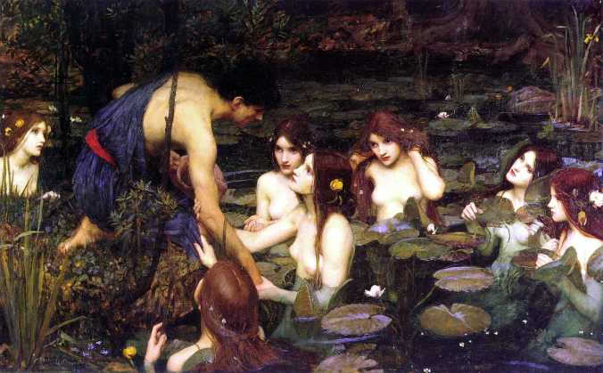 Hylas and the Nymphs - John William Waterhouse c. 1896