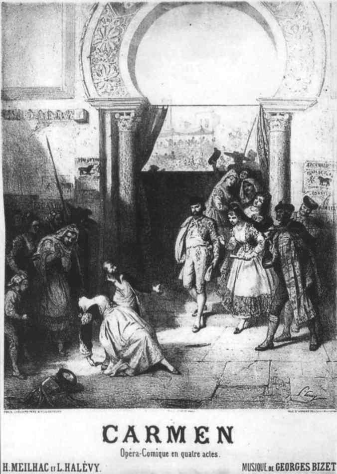 1875 poster for Bizet's opera Carmen