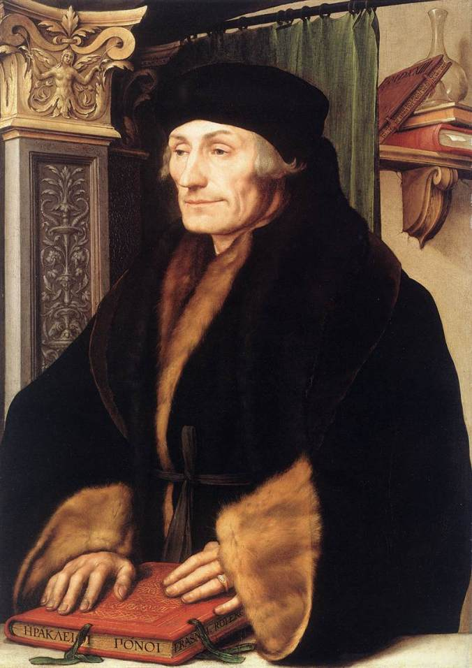 Desiderius Erasmus by Hans Holbein the Younger c. 1523