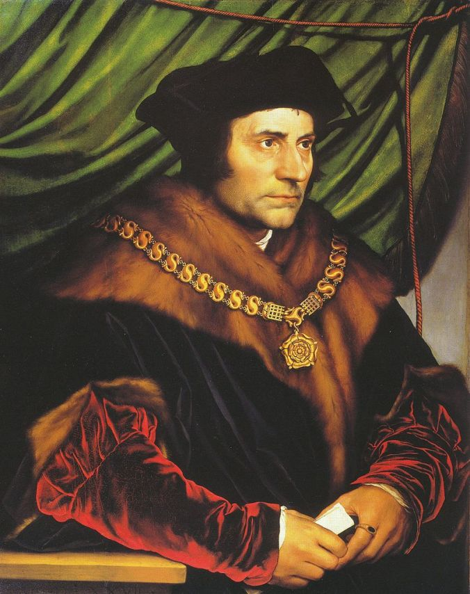 Sir Thomas More by Hans Holbein c. 1527. The Frick Collection New York