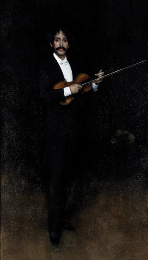 Pablo de Sarasate - Arrangement in black by James Abbot McNeill Whistler