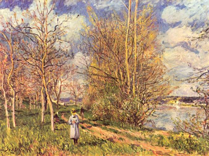 Small meadows in Spring by Alfred Sisley c. 1880