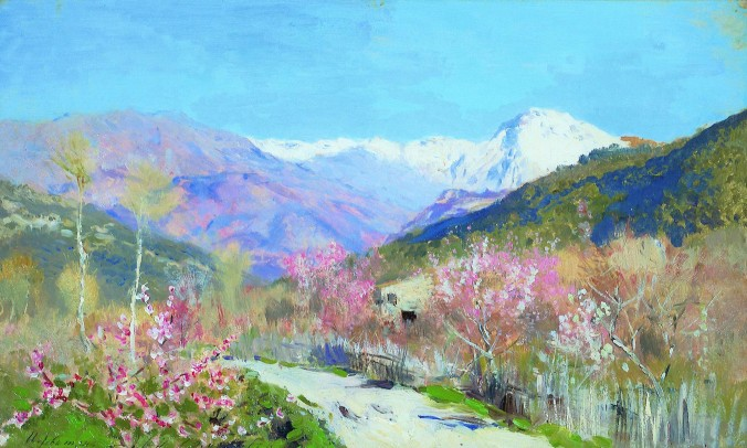 Spring in Italy by Isaac levitan c. 1890